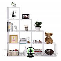 Стелаж-перегородка на 10 комірок, полка для книг, стелаж для іграшок ДСП, фото 4