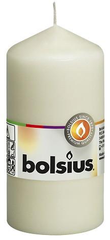 Свеча цилиндр кремовая Bolsius 12 см (60/120-011Б)
