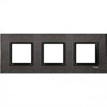 Рамка 3 пост. Unica Class чёрный камень MGU68.006.7Z1