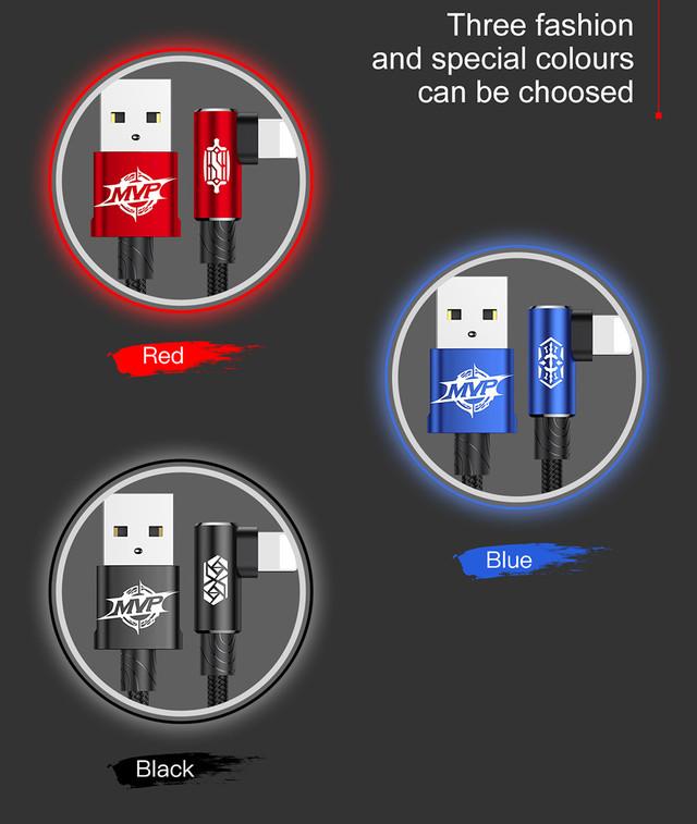 Baseus MVP Elbow Lightning кабель с угловым коннектором для iPhone/iPad/iPod Разновидности