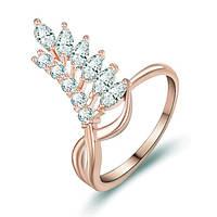 """Кольцо """"Kenzo"""" позолоченное с кристаллами swarovski 1"""