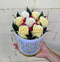 Цветы из Мыла Прекрасные розы на подарок