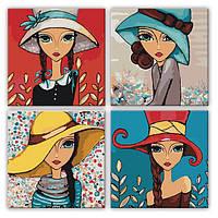 Картина по номерам Абстракция - Яркие девочки KNP013