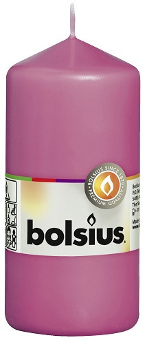 Свеча цилиндр Bolsius 12 см фуксия (60/120-52810)