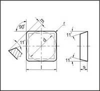 Пластина SPUN - 120308 Т15К6(Н10) квадратная (03311) гладкая односторонняя нор.точности без отверстия