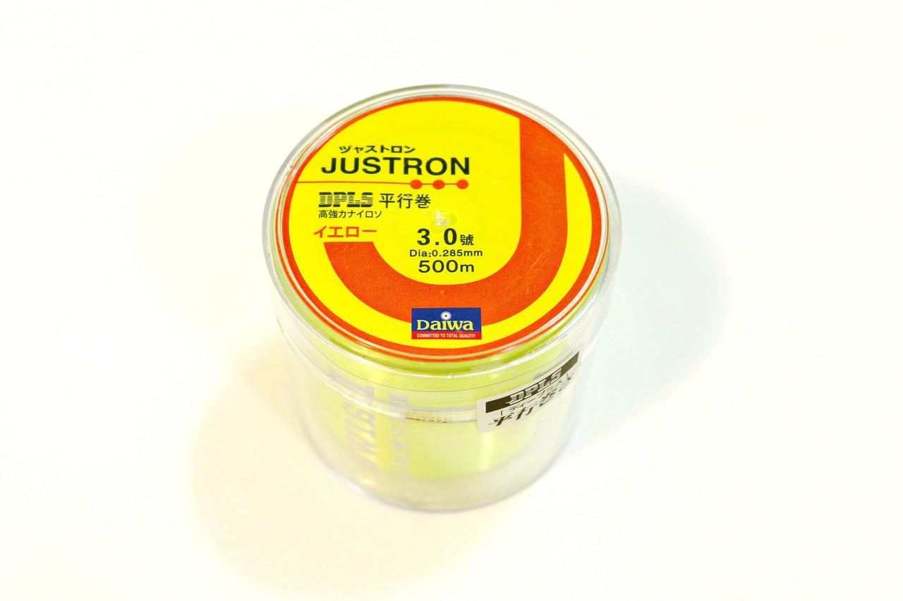 Лескa Daiwa Justron 0.28 мм тест 8.1 флуоресцентная, намотка 500м