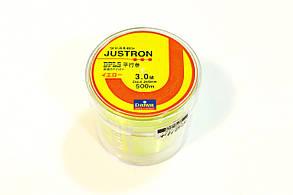 Лескa Daiwa Justron 0.28 мм тест 8.1 флуоресцентная, намотка 500м, фото 2