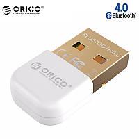 USB Bluetooth адаптер ORICO беспроводной передатчик bluetooth 4.0 для компьютера, ноутбука BTA-403-WH (Белый)