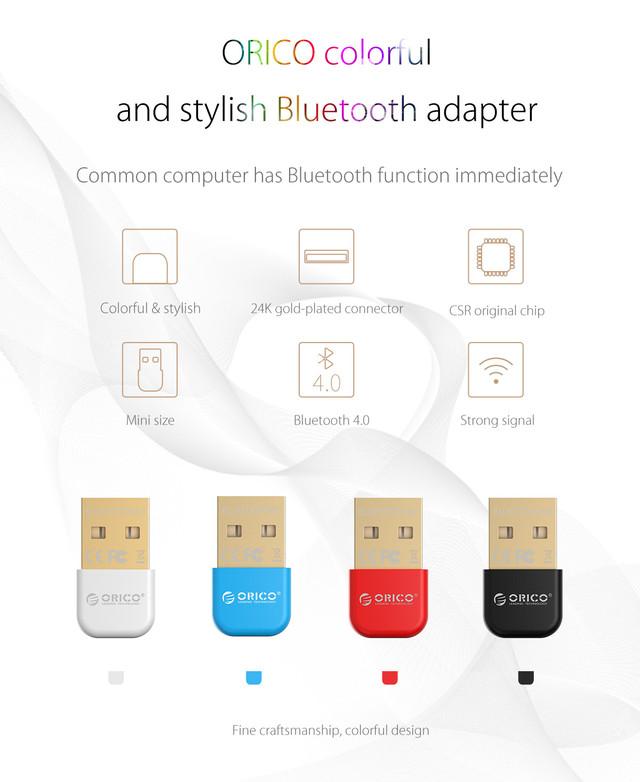 USB Bluetooth адаптер ORICO беспроводной передатчик bluetooth 4.0 для компьютера, ноутбука BTA-403