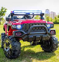 Двухместный детский электромобиль Джип M 4107 EBLR-3, Hummer, 4 мотора, Кожа и Резина, красный