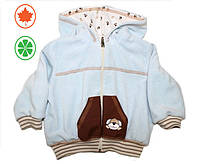 Курточка-Ветровка Lux /Цвет-Голубой ,Молочный, Нежно-розовый. Размер-62,68,74,80,86,92