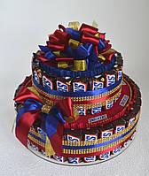 Торт з Снікерсів шоколадних батончиків., фото 1