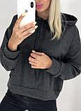 Кофточка реглан бомпер свитшот туника толстовка Капюшон, фото 6