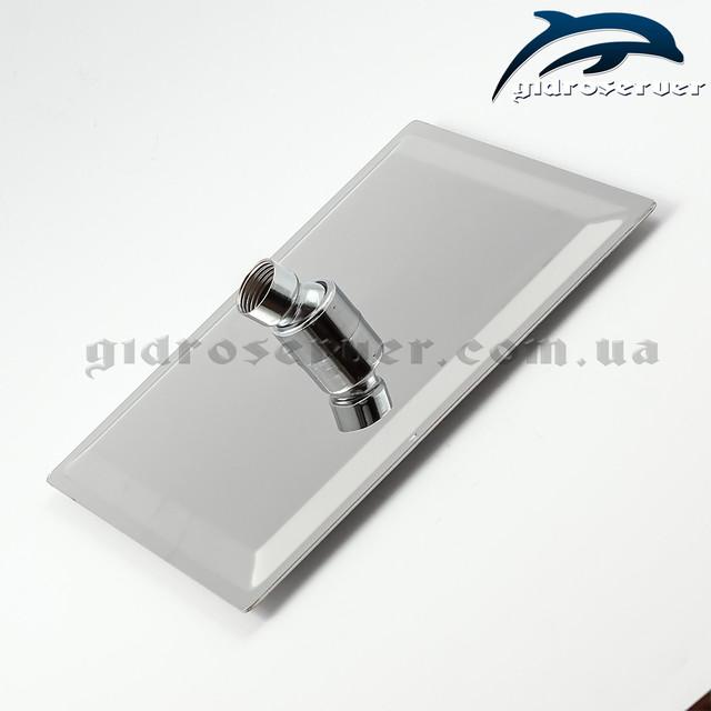 Лейка верхнего душа LN-203 квадратной формы с размерами 200 на 200 мм.