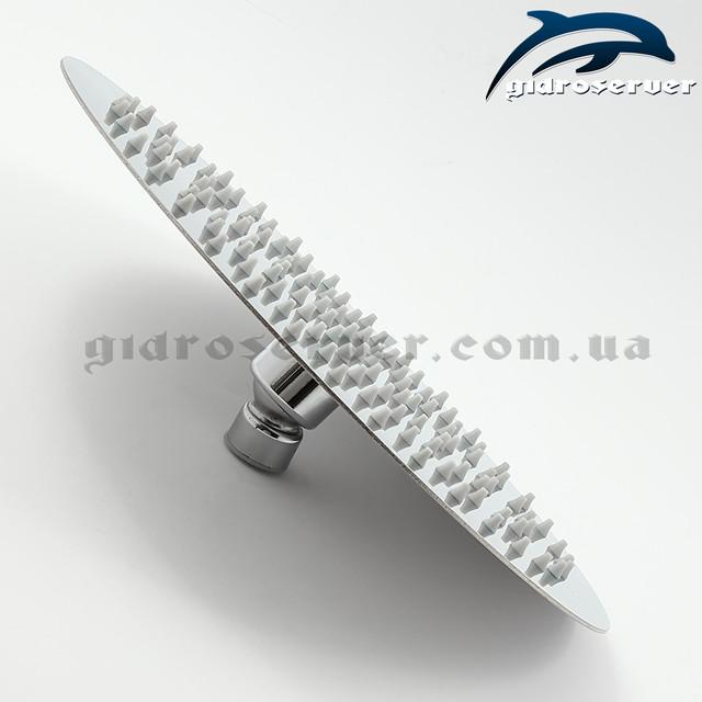 Тропическая лейка для душа LN-252 производится из нержавеющей стали марки AISI201.