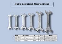 Набор рожковых ключей 6шт/10-19мм., Top Tools 35D255