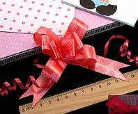 (10шт) Подарочные бантики 39х2см (13х10см в собранном виде) бант-затяжка Цвет - Красный (сп7нг-0475)