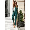 Брючный стильный костюм женский №41717 зеленый