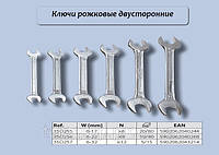 Набор рожковых ключей 8шт/10-22мм., Top Tools 35D256