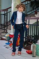 Школьная форма для девочек костюм: брюки и пиджак  621, фото 1