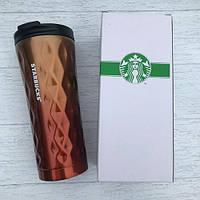 Термокружка Starbucks (Старбакс) High-Shinе Diаmоnd 500 мл Оранжевый