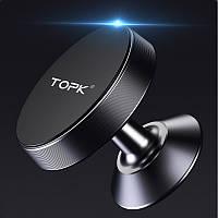 Автодержатель для телефона магнитный TOPK 360 черный (D04-BL)