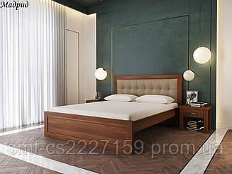 Ліжко Мадрид з м'якою спинкою