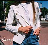 Пиджак женский летний , серый, розовый, персиковый, жёлтый, фото 3