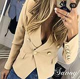 Пиджак женский летний , серый, розовый, персиковый, жёлтый, фото 4