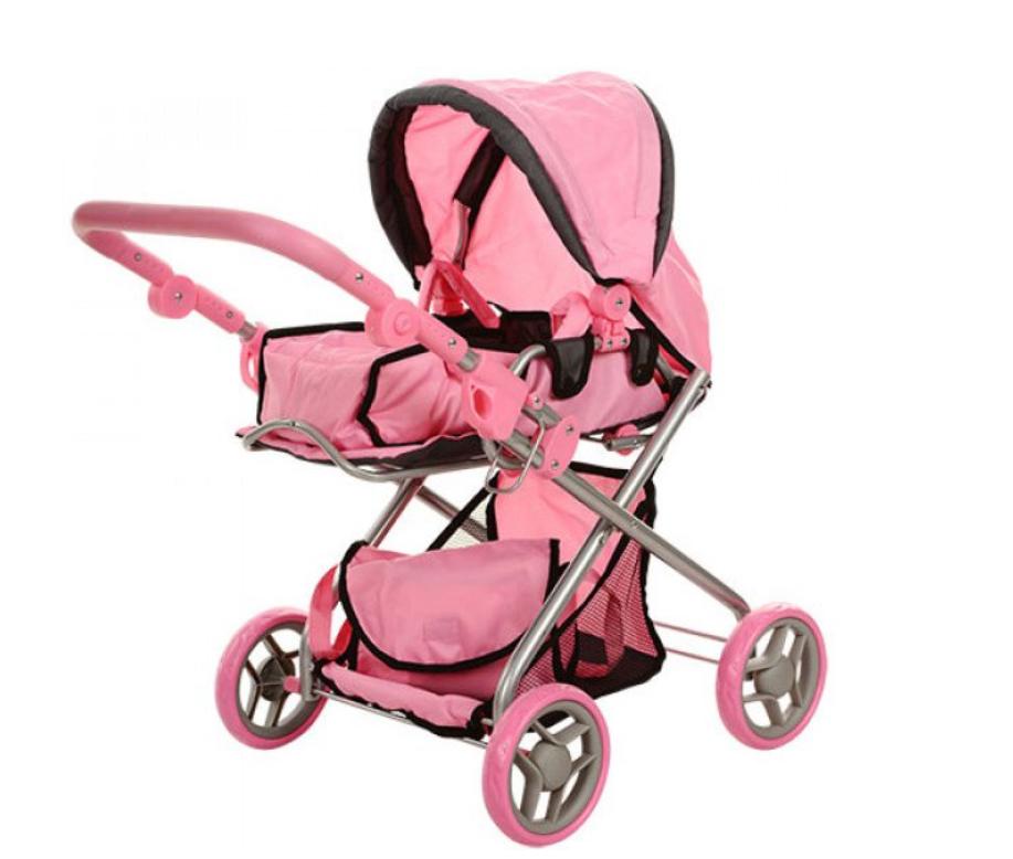 Коляска для кукол MELOGO 9379/029 с сумкой, корзинкой, люлькой-переноской