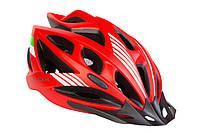 Шлем велосипедный с козырьком СIGNA WT-036 L (58-61 см) красный, фото 1
