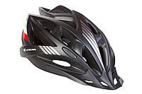 Шлем велосипедный с козырьком СIGNA WT-036 М (54-57 см) (черный), фото 1