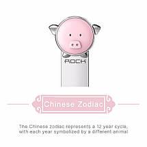 Кабель Micro USB Rock Zodiac Pig для зарядки и передачи данных, плоский RCB0523 (Розовый, 1м), фото 3