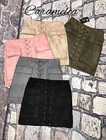 Стильная женская замшевая юбка, фото 1