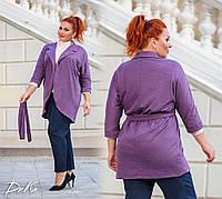 Кофта на запах №0451 (р. 50-56) фіолетовий, фото 1