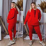 Спортивный костюм женский большого размера. Цвет: хаки,черный,красный, фото 2