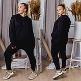 Спортивный костюм женский большого размера. Цвет: хаки,черный,красный, фото 3