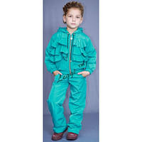 Детский демисезонный костюм Moncler, куртка с рюшами