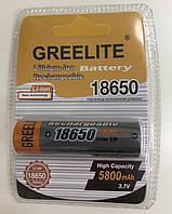 Акумуляторна батарейка BATTERY 18650 blister 5800mah від Greelite