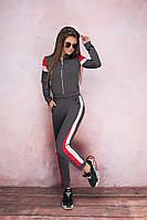 Женский  спортивный костюм С ,М, Л  Цвет - серый, черный, молоко