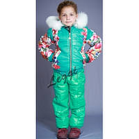 Детский зимний термо комплект Moncler-спорт, цветы
