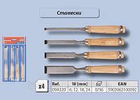 Набор стамесок 4шт/6-24мм, Top Tools 09A320