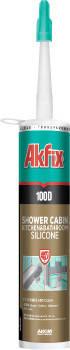 Герметик силиконовый санитарный Akfix 100D белый, фото 2