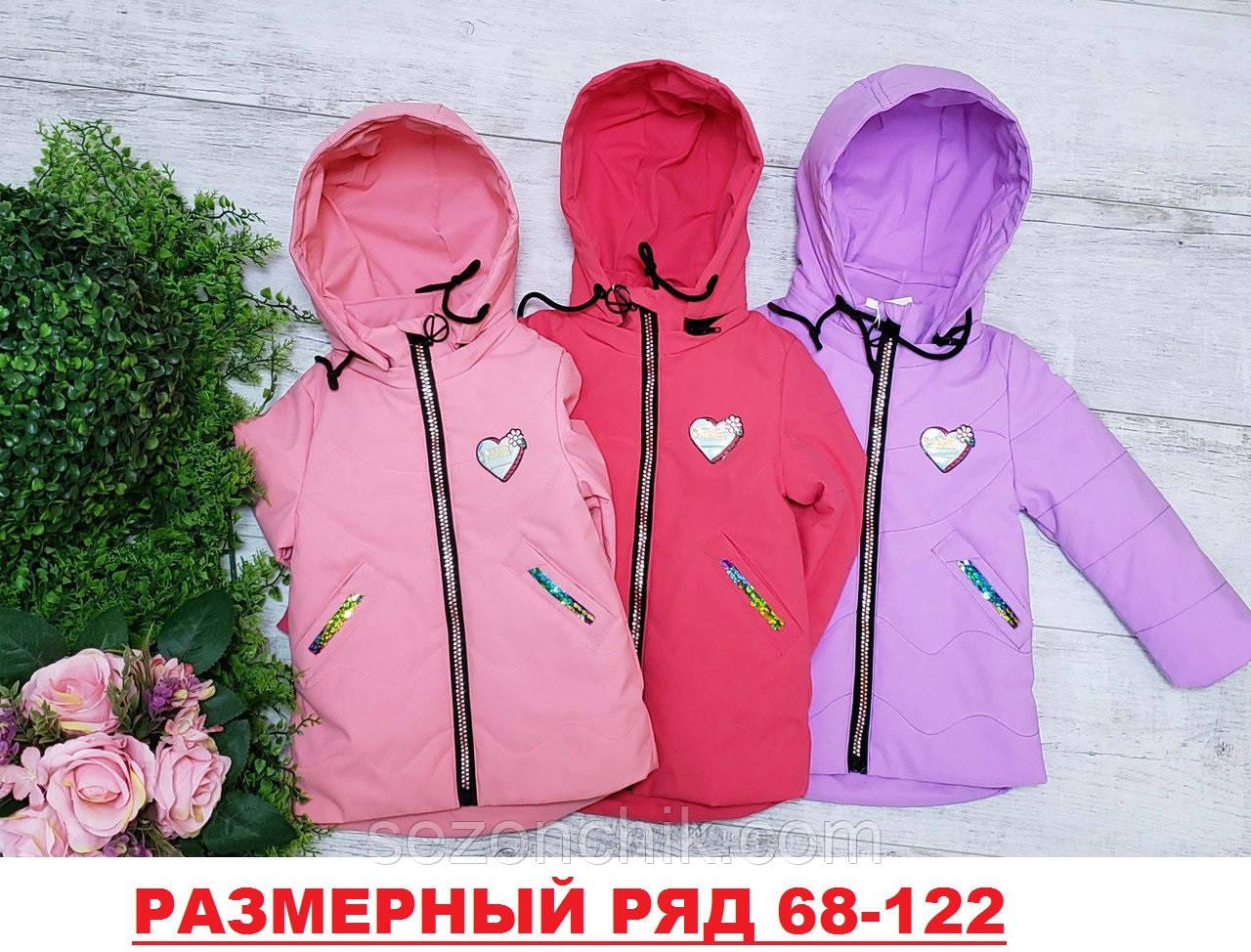 Модная детская куртка на девочек