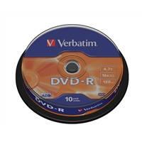 Диски Verbatim DVD-R 4,7Gb 16x Cake 10 pcs