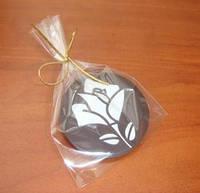 Шоколадные медальоны с логотипом компании