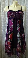 Платье женское легкое летнее сарафан вискоза шелк бренд Monsoon р.42-44