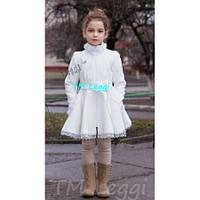 Детское кашемировое пальто Chanel, отделка норка