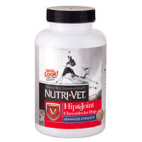 Nutri-Vet Hip & Joint Advanced (Нурти-Вет) Связки и суставы Адвансид глюкозамин хондроитин МСМ для собак 3 уро