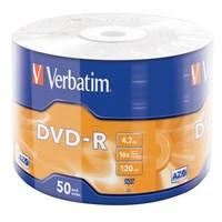 Компьютерный диск Verbatim DVD-R 4,7Gb 16x Wrap 50 штук